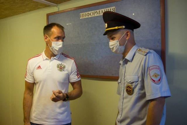 Отделение полиции в контейнере из профнастила в Вологодской области