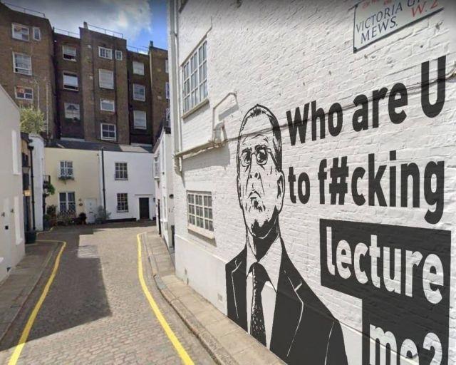 Граффити в Лондоне с Сергеем Лавровым