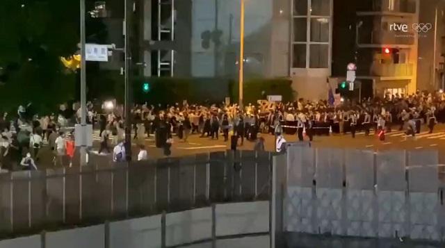 протест в токио