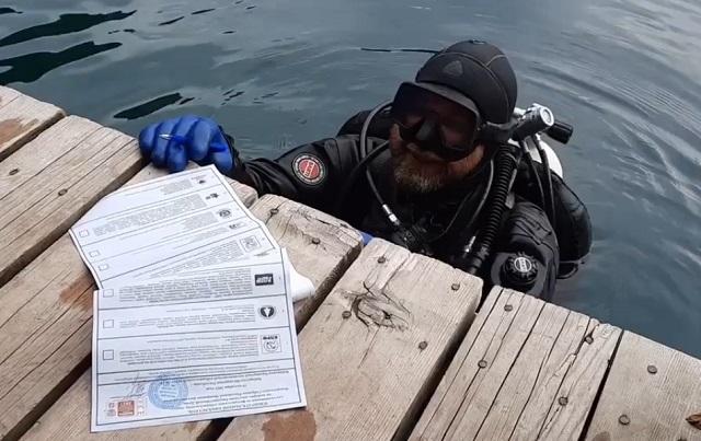 дайвер в Кабардино-Балкарии проголосовал, не выходя из озера