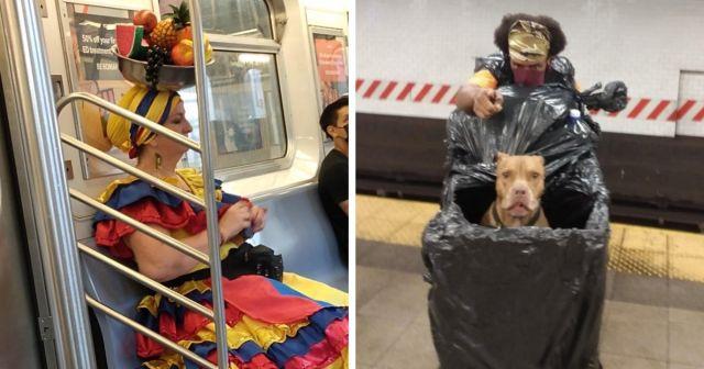 Необычные персонажи и ситуации в метро