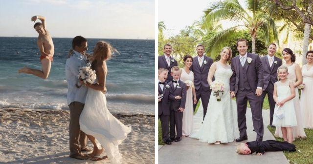 Подборка забавных и нелепых свадебных фото