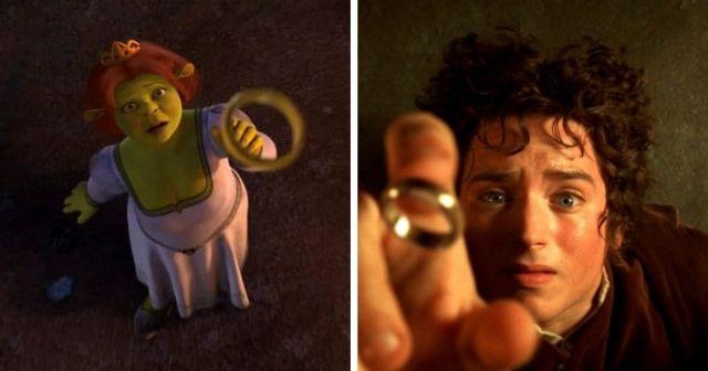 Сцены из мультфильмов, которые в точности повторяют моменты из известных фильмов