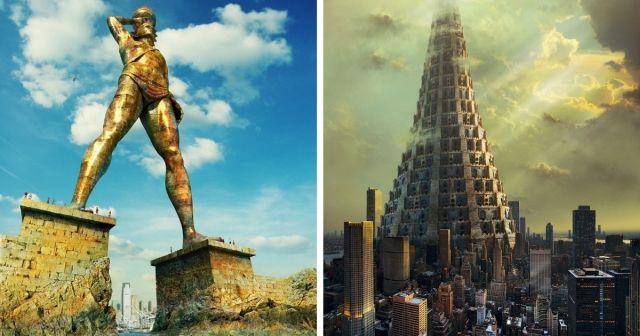Как выглядели бы древние строение прошлого, сохранись они до XXI века в первозданном виде