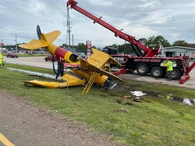 В Техасе упал легкомоторный самолет