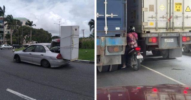 Странные и опасные выходки водителей на дорогах