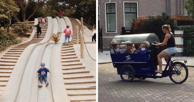 Любопытные решения в городах, которые делают прогулку по улицам намного интересней
