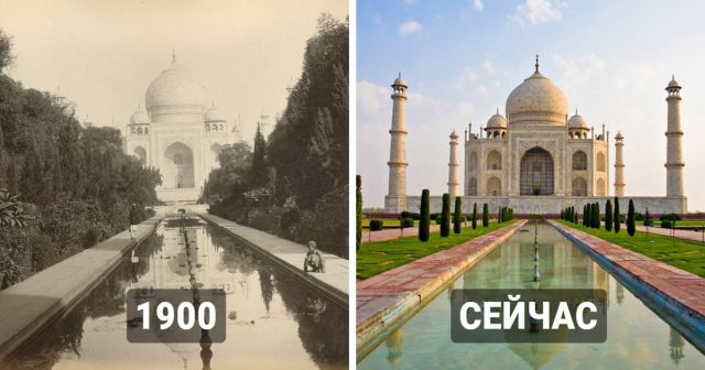 Снимки известных мест, которые за годы претерпели заметные изменения