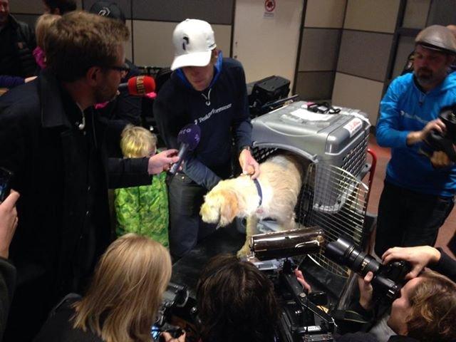 Артур на шведском земле много средств массовой информации ждали его в аэропорту Арланда.