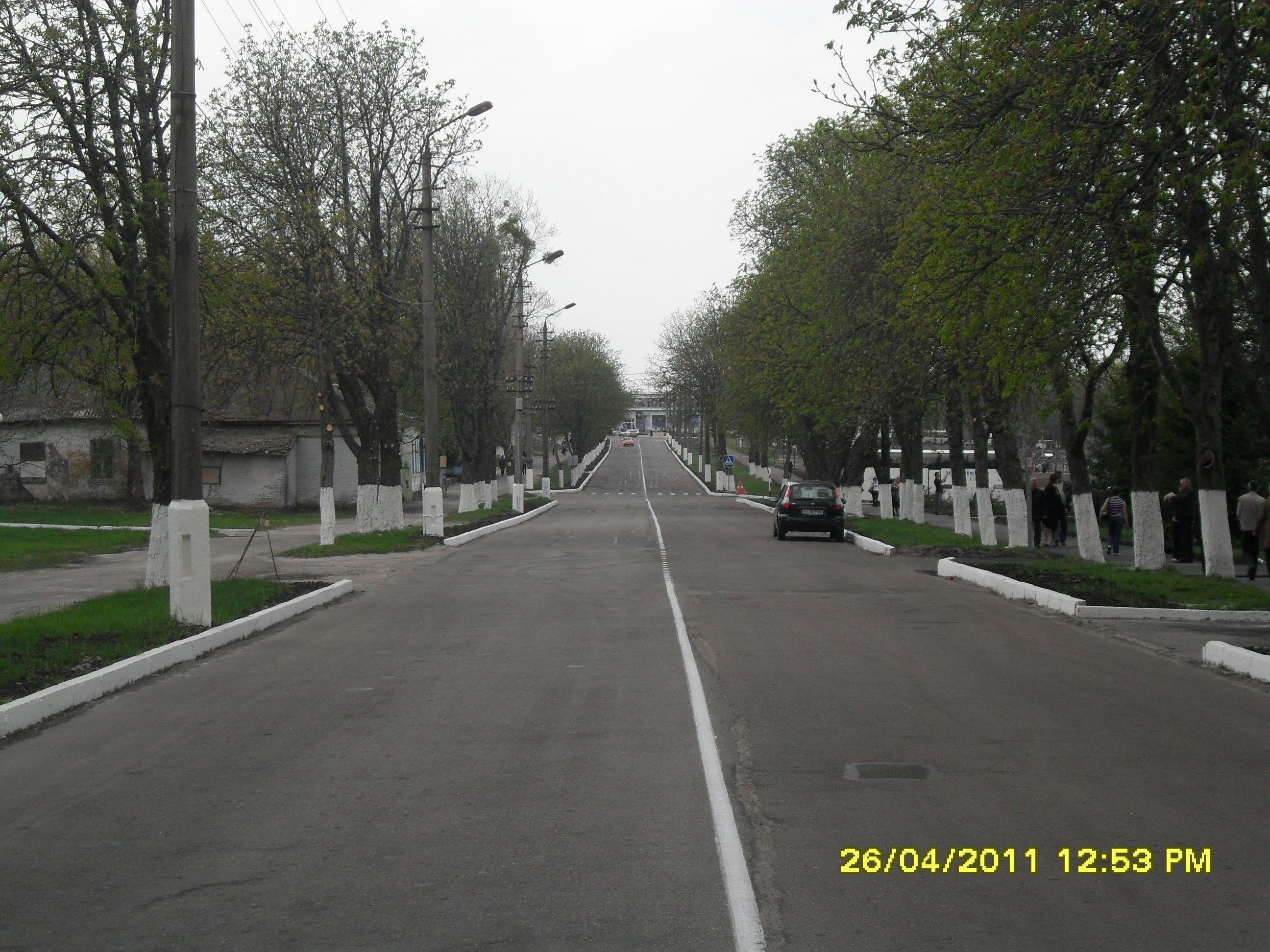 Главная улица Чернобыля.