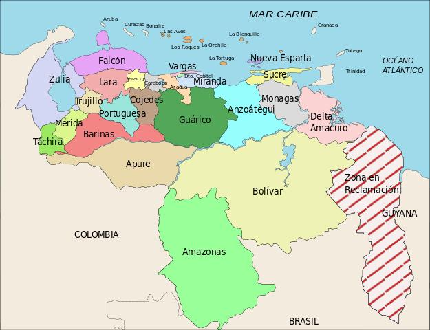 На картах Венесуэлы спорный участок присутствует в заштрихованном виде и по сей день.