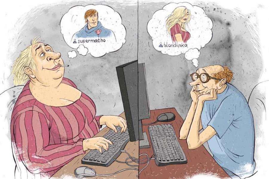 Знакомствах интернете рассказы