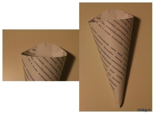 Как из бумаги сделать кулёк для цветов