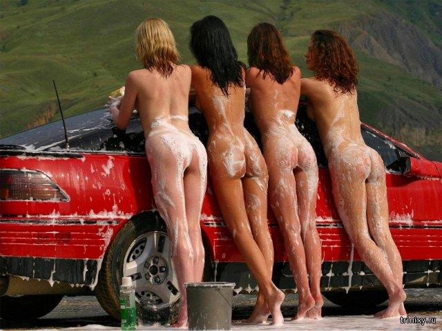 Девушки голые и машины фото