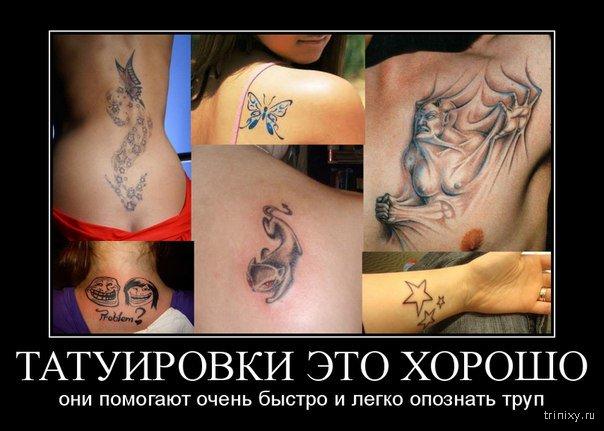 шутки про татуировки на попе это